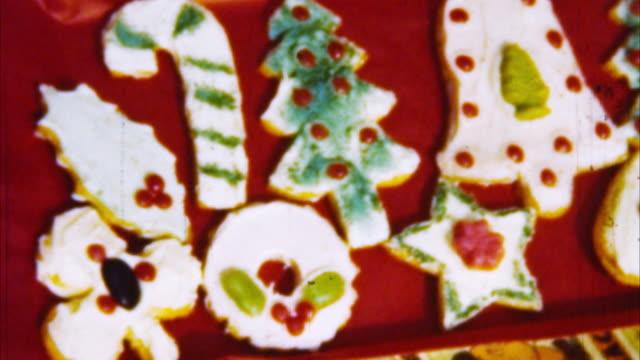 archivio natale cookie (1950 - anno 1950 video stock e b–roll