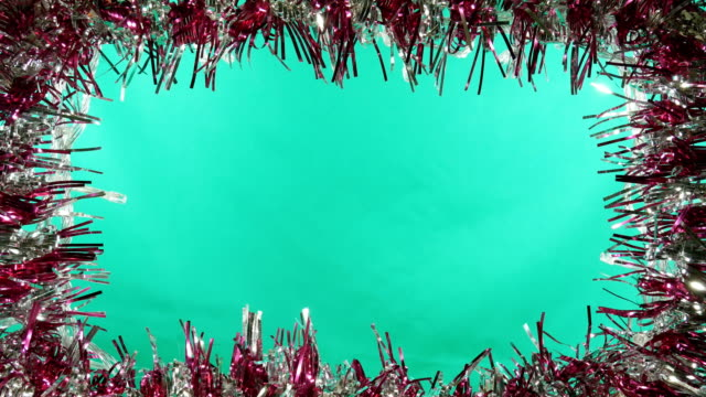christmas decoration frame green screen background 4k - frame border stock videos and b-roll footage