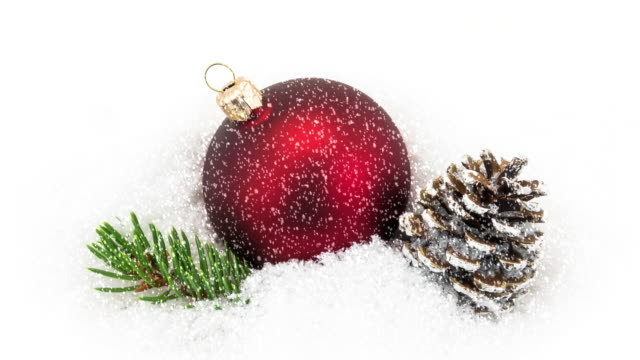 christmas decoration in snow - ornament stock videos and b-roll footage
