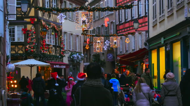 Christmas decoration in the old town of Strasbourg, Alsace, France