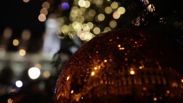 christmas decoration in the street - ornate stock videos & royalty-free footage