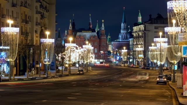 christmas decoration of city - 飾りつけ点の映像素材/bロール