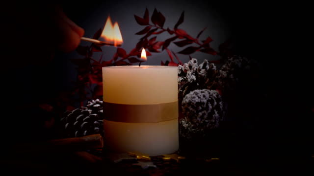 christmas decoration with candle - advent stock videos & royalty-free footage