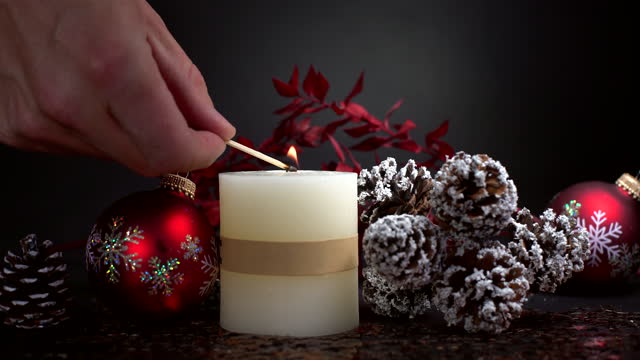 christmas decoration with candle - world war one stock videos & royalty-free footage