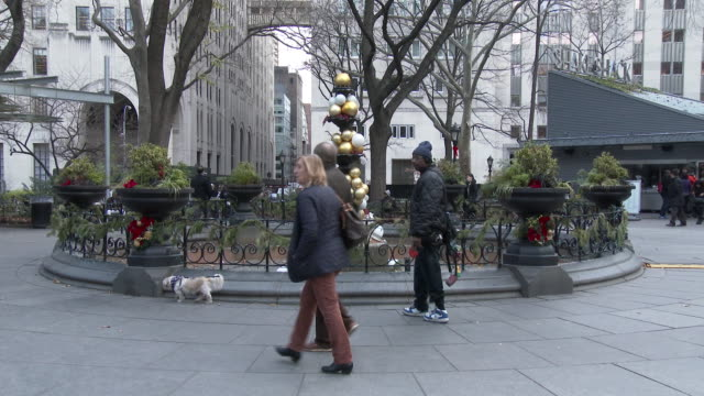 Christmas Decorations Adorn A Fountain, Madison Square Park - Flatiron District NYC