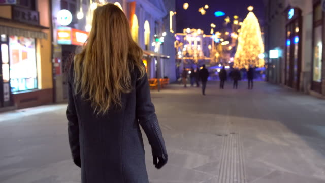 christmas decorations in the city - mitten stock videos and b-roll footage