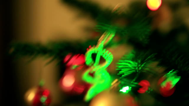 christmas decorations on the christmas tree - pinaceae stock videos & royalty-free footage