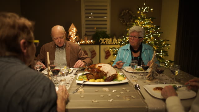 christmas dinner at home - cutlery stock videos & royalty-free footage