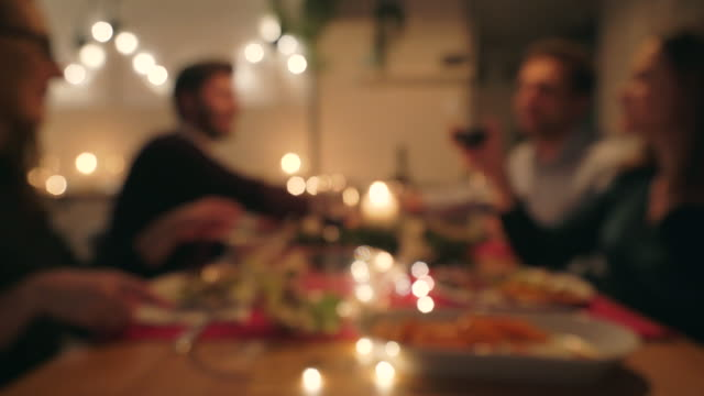 christmas dinner. - dinner party stock videos & royalty-free footage