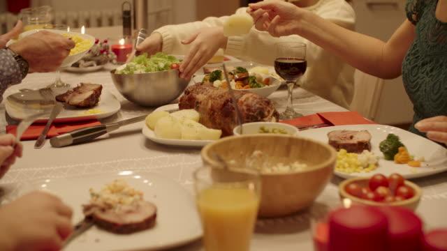 christmas dinner - roast beef stock videos & royalty-free footage