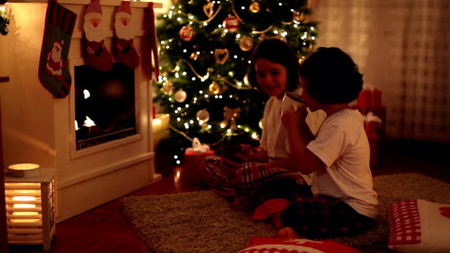 christmas evening - hot chocolate stock videos & royalty-free footage