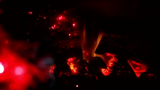 christmas fireplace - log stock videos & royalty-free footage