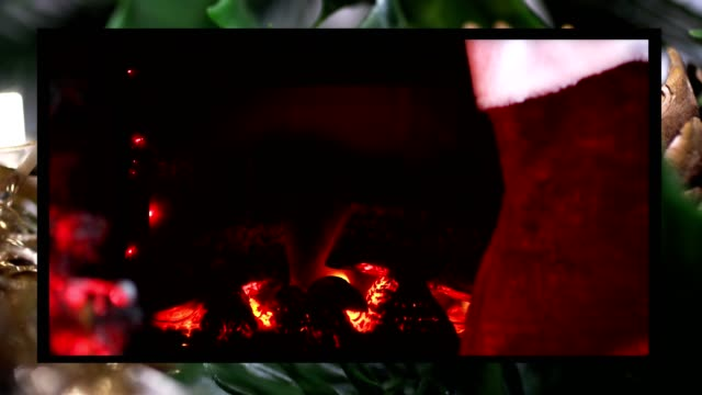 christmas fireplace - christmas stocking stock videos & royalty-free footage