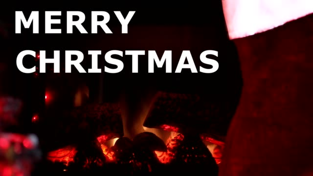 christmas fireplace - stockings stock videos & royalty-free footage