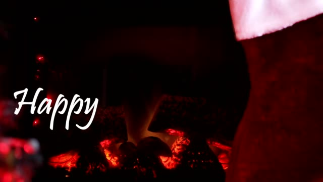 christmas fireplace - happy holidays stock videos & royalty-free footage