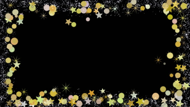 christmas frame with animated christmas balls and stars, seamless loop, use screen layer mode for alpha - christmas decoration stock videos & royalty-free footage