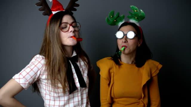 christmas freak show - fancy dress costume stock videos & royalty-free footage