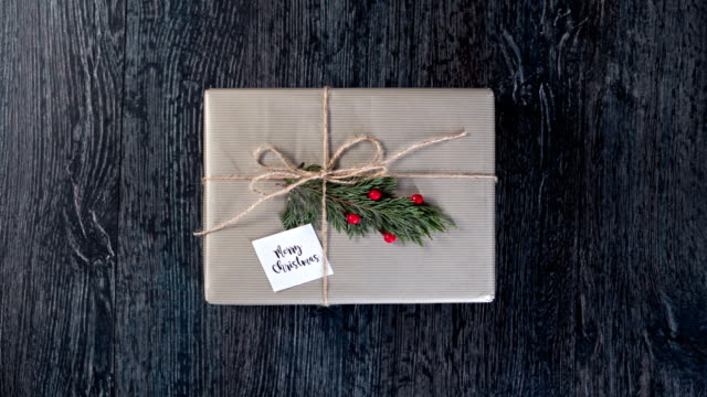 christmas gift stop motion - wrapping paper stock videos & royalty-free footage