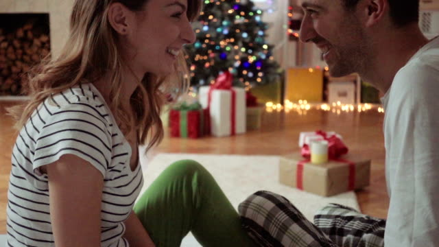 christmas gifts exchange - transfer stock videos and b-roll footage