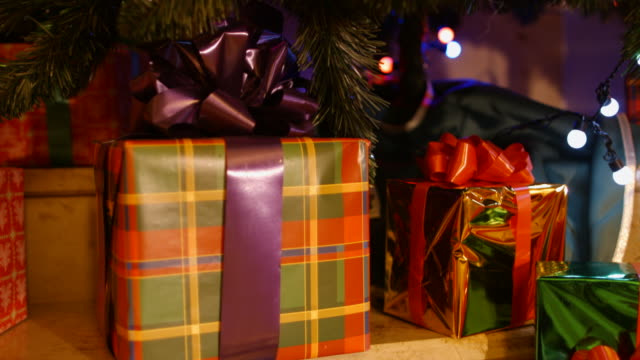 christmas gifts under the tree - pinaceae stock videos & royalty-free footage