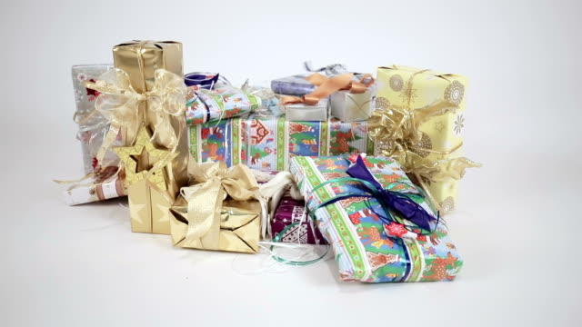 christmas gifts - medium group of objects stock videos & royalty-free footage