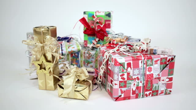 christmas gifts - medium group of objects stock videos and b-roll footage