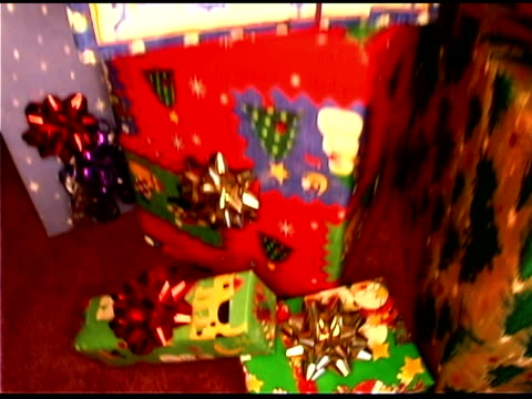 christmas gifts - see other clips from this shoot 1407 stock videos and b-roll footage