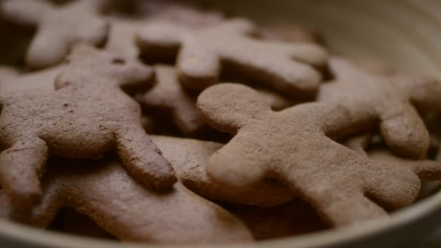 christmas gingerbread cookies - biscuit stock videos & royalty-free footage