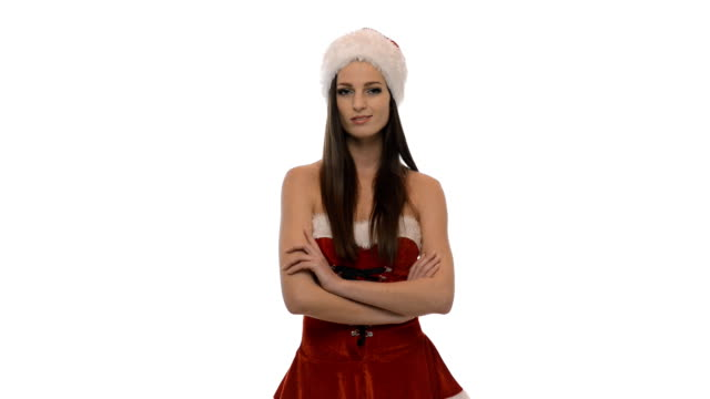 christmas girl - mrs claus stock videos and b-roll footage