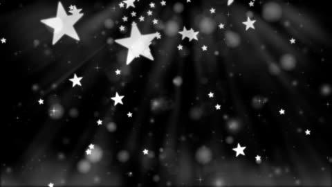 christmas glitter stars black background - star shape stock videos & royalty-free footage