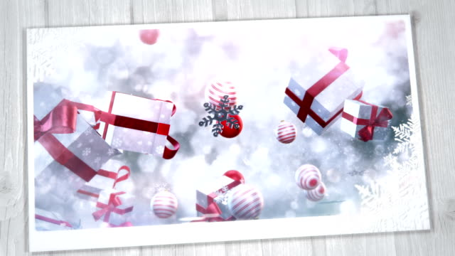 christmas greeting card (gold, red) - christmas card stock videos & royalty-free footage