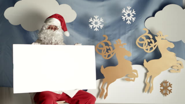 christmas greetings with santa claus - father christmas stock videos and b-roll footage