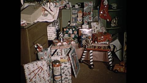 1957 christmas home movie - 1957 stock videos & royalty-free footage