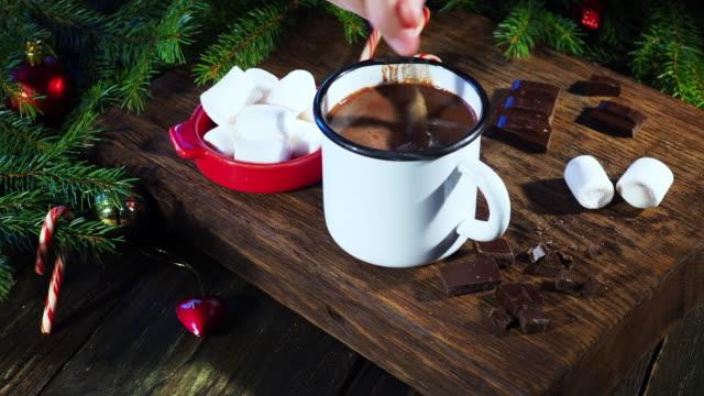 christmas hot chocolate - hot chocolate stock videos and b-roll footage