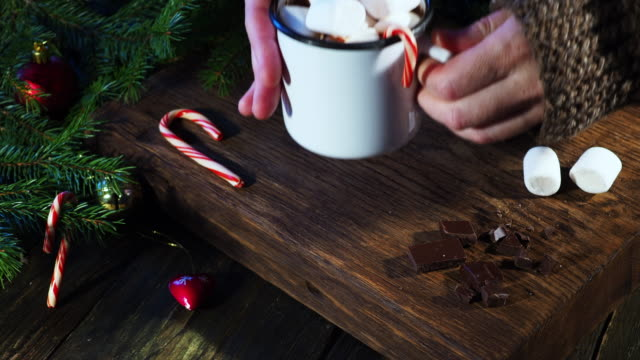 christmas hot chocolate - mug stock videos & royalty-free footage