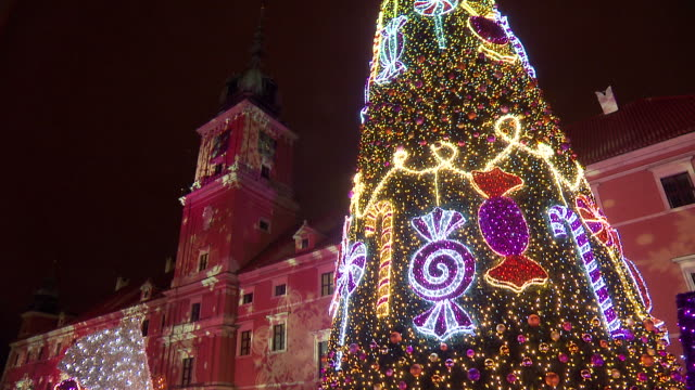 christmas illuminations - poland stock videos & royalty-free footage