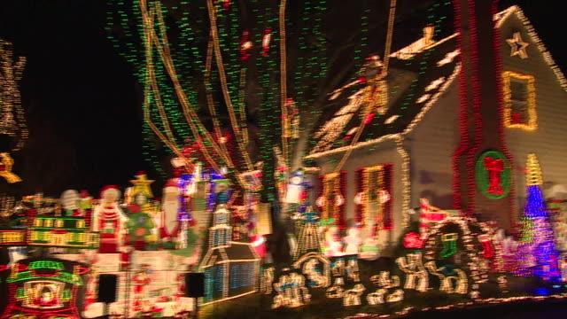 christmas illuminations - fairy lights stock videos & royalty-free footage