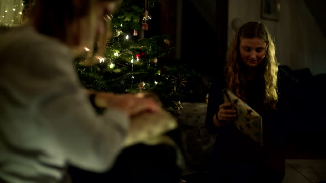 christmas in a german family - 焦点点の映像素材/bロール