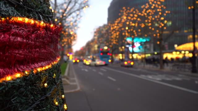 weihnachten in berlin kurfürstendamm, zeitraffer - stadtviertel stock-videos und b-roll-filmmaterial