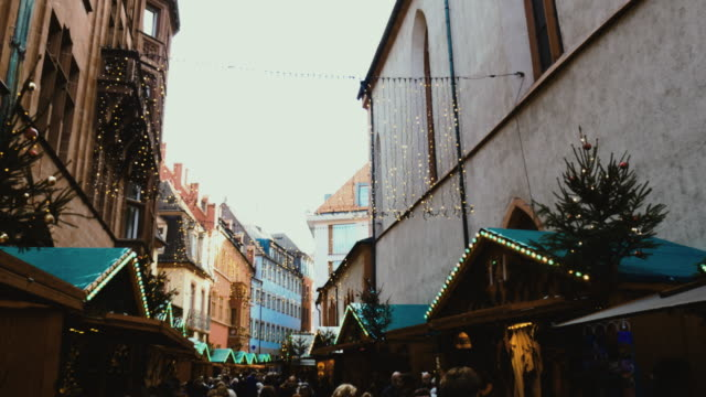 christmas in germany - christmas market in freiburg downtown - advent stock videos & royalty-free footage