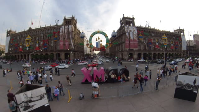 christmas in mexico city downtown - torre latinoamericana stock videos & royalty-free footage