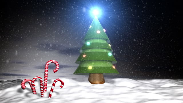christmas in north pole with snow loop - candy cane stock videos & royalty-free footage