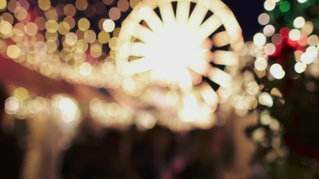 christmas in norway: bergen lights - big wheel stock videos & royalty-free footage