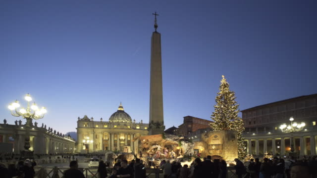 Christmas in St Peter's Square, Vatican City, Rome, Italy