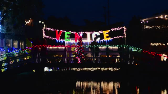 christmas in venice beach - venice california stock videos & royalty-free footage