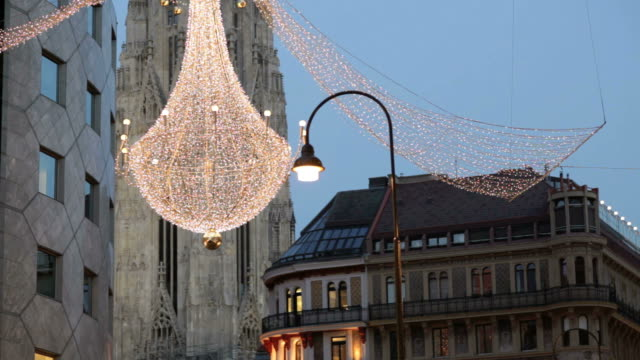 christmas in vienna - vienna austria stock videos & royalty-free footage