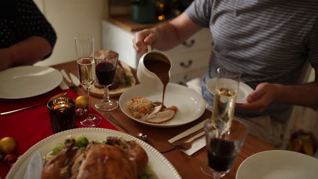 christmas is a time of giving and sharing - lunch stock videos & royalty-free footage