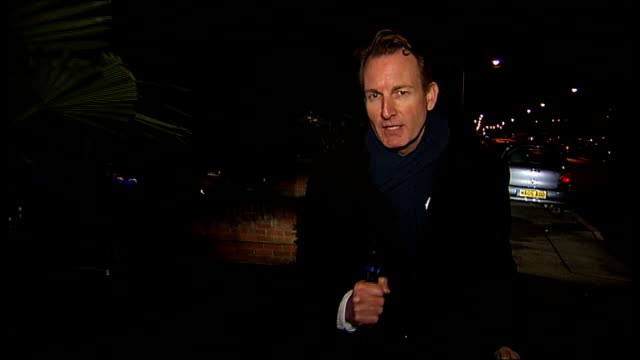 itv london tonight christmas lights competition winner england london dagenham mark brent and his partner kayleigh interview outside their house... - itv london tonight点の映像素材/bロール