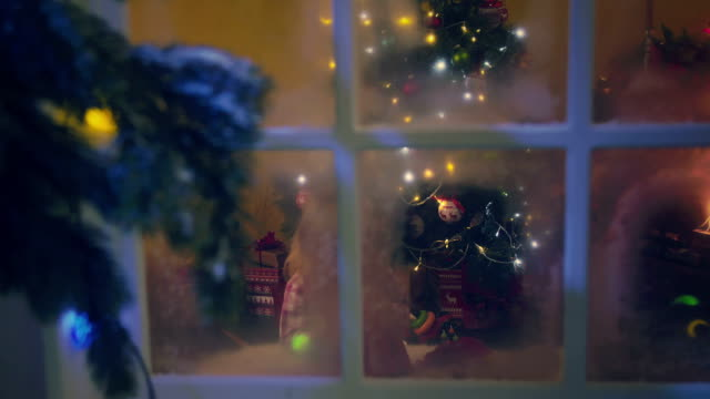 Christmas Kids in Pyjamas with Presents