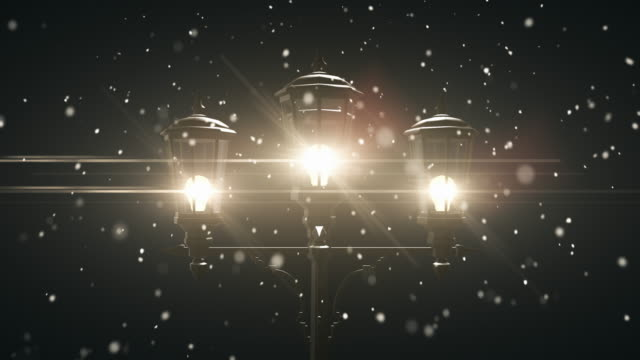 vídeos de stock, filmes e b-roll de natal luminária pós - 4 km/circulares - snow cornice